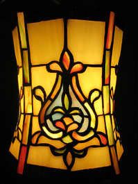 glass stained leaded light lamp