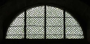 window windows ornate stained glass church simple round arch