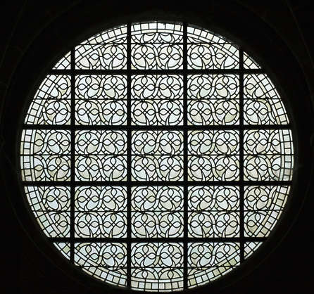 window windows ornate stained glass church simple round circle