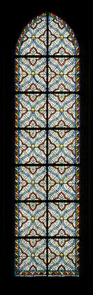 stained glass window church ornate tall narrow