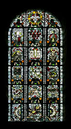stained glass window church ornate