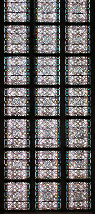 ornament church glass leaded
