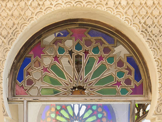 morocco arabic moorish ornate arch archway stained glass