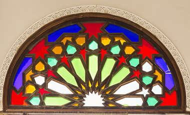 morocco arabic moorish ornate stained glass