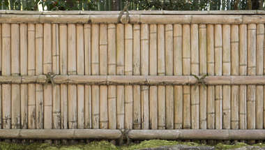 japan wood planks bamboo sticks fence