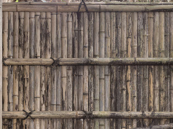 bamboo fence barrier old japan