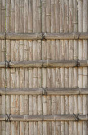 wood bamboo fence planks old japan