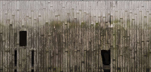 japan wood bamboo mossy weathered old fence