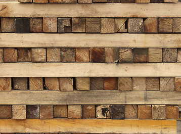 wood end beam planks stack