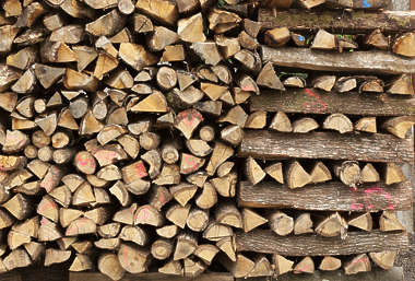 wood firewood chopped ends tree