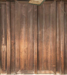 japan wood temple shrine planks old door double bare