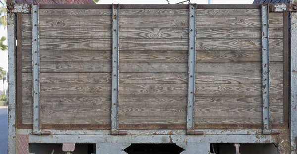 wood planks truck bare morocco