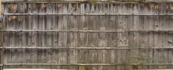 japan wood fence old weathered siding