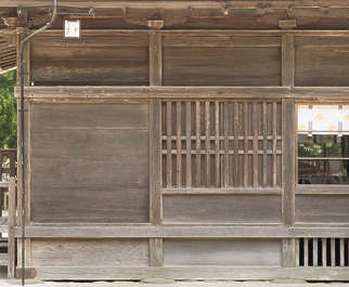 japan wood bare temple shrine old planks