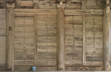 japan wood bare temple facade shrine old planks