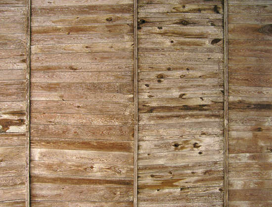 wood planks ceiling