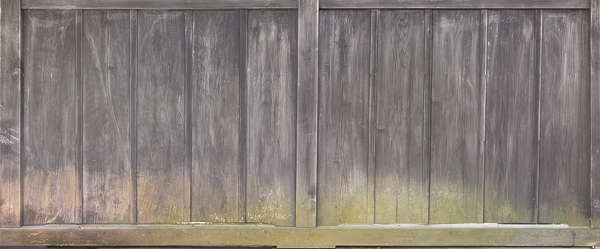wood planks old bare mossy old japan siding