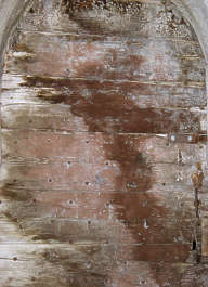 wood planks old dirty stains paint nails siding