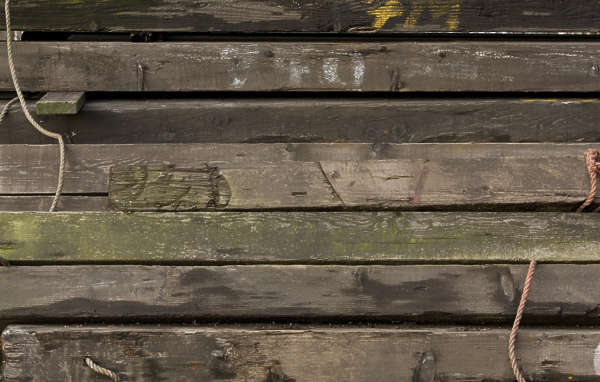 wood planks old beam siding mossy