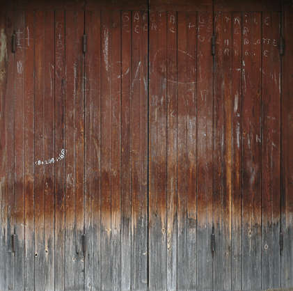 wood planks old painted siding