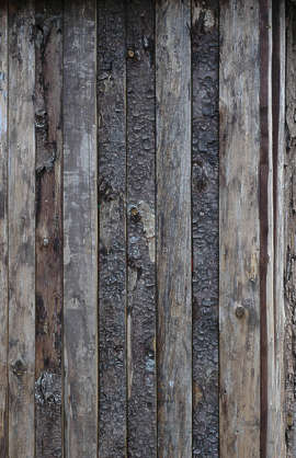 wood planks old bark siding