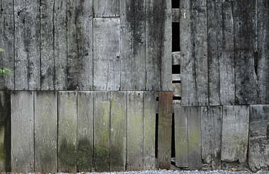 wood planks old weathered siding