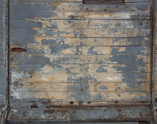 wood planks painted old worn ceiling siding