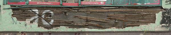 wood planks damaged old siding