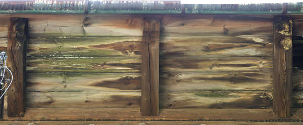 wood planks bare old ceiling siding