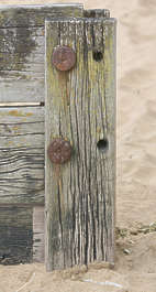 UK wood coastal fence