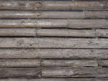 wood planks dirty bare round