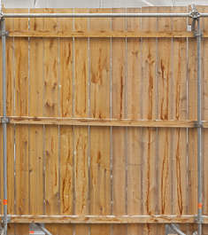 wood planks plank fence painted
