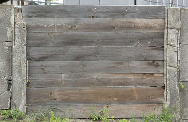wood planks bare fence