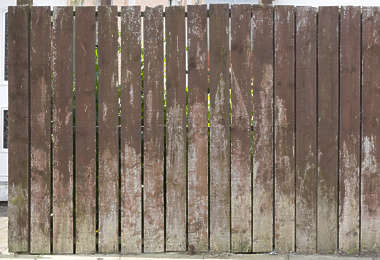 wood wooden plank planks fence painted UK