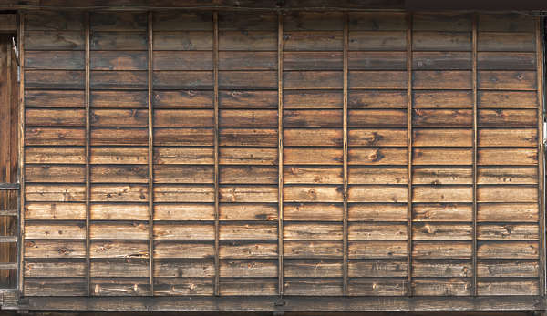 japan wood planks reinforced old bare overlapping siding