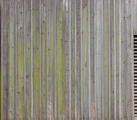 wood planks old bare overlapping moss siding