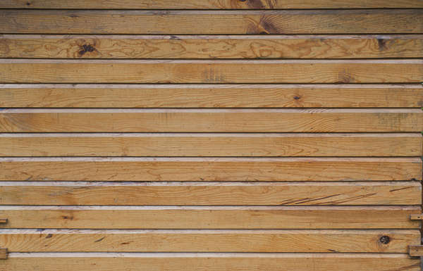 wood planks overlapping siding