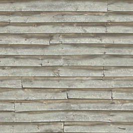 wood planks overlapping bare siding