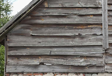 wood planks old bare siding