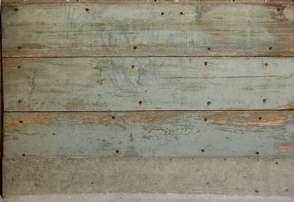 wood planks painted old nails worn siding