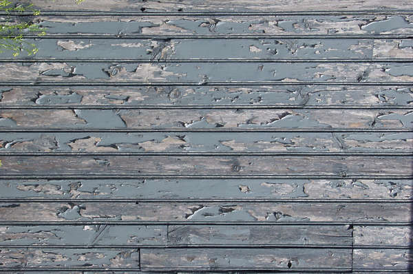 wood planks painted bare siding