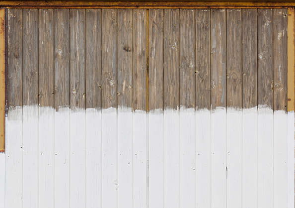 wood door painted planks bare siding