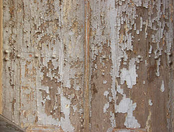 wood painted planks cracked old weathered siding