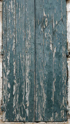 wood planks painted window shutters old weathered cracks old crackles siding