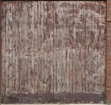 door wooden wood double gate paint worn siding
