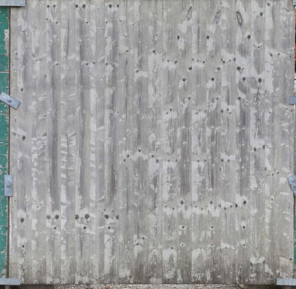 wood planks painted weathered worn fence siding