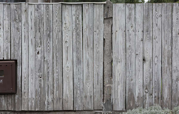 wood planks painted worn fence siding