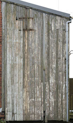 wood wooden plank planks painted old weathered UK siding