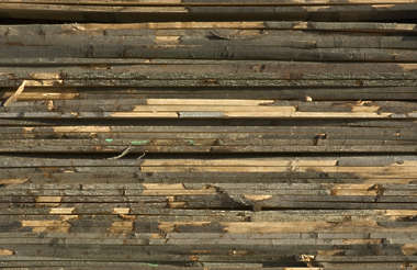 wood planks old stack bark