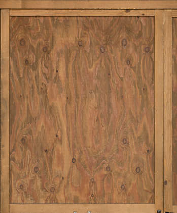 japan wood plywood crate old